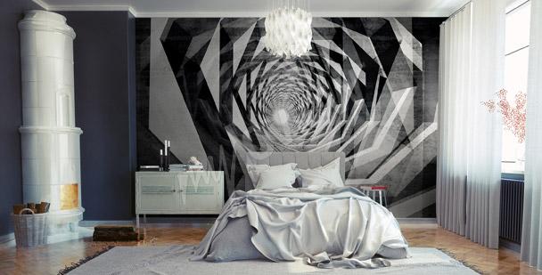 Fotomural túnel hipnótico