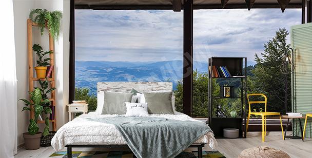 Fotomural ventana 3D para dormitorio