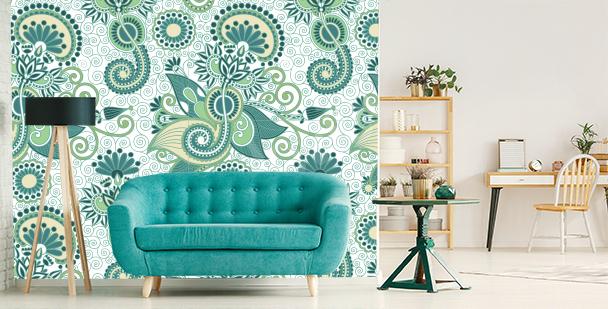 Fotomural verde para sala