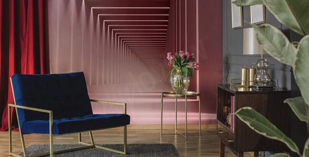 Fotomural vestíbulo rosa