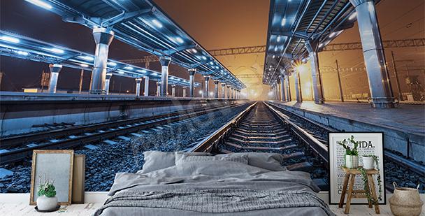 Fotomural vista a las plataformas