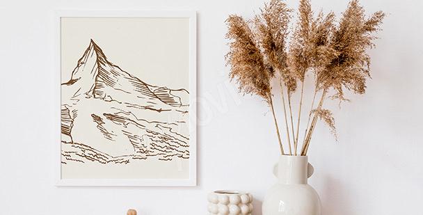 Minimalista póster montañas