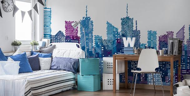 Mural Nueva York para cuarto de niño