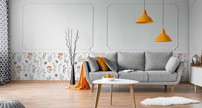 Panel de papel pintado - una forma efectiva de cambiar un interior