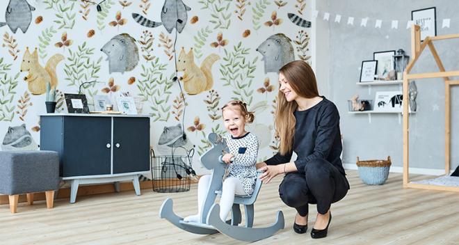 Papeles pintados para niños: ¡los animales son un excelente motivo! Echa un vistazo a 8 diseños únicos