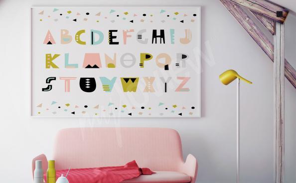 Póster alfabeto para la habitación de un niño