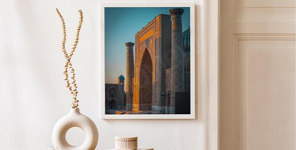 Póster arquitectura en Uzbekistán