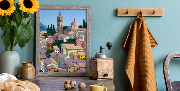 Póster arquitectura italiana