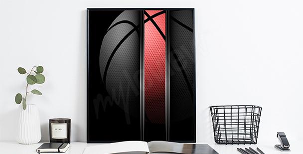 Póster baloncesto para un deportista