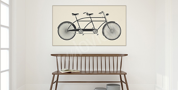 Póster bicicleta en estilo vintage
