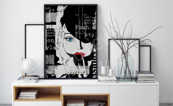 Póster blanco y negro