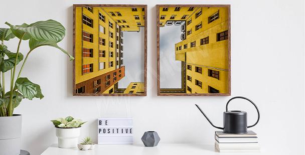 Póster bloque amarillo en Berlín