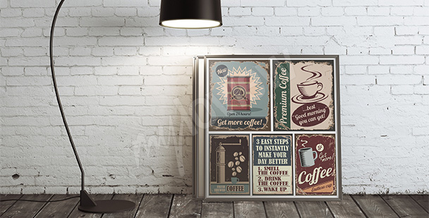 Póster café estilo retro