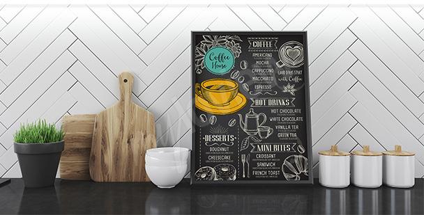 Póster café y menú