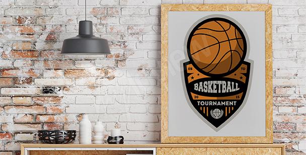 Póster campeonato de baloncesto