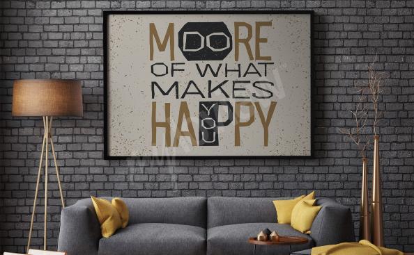 Póster cita motivacional para sala de estar