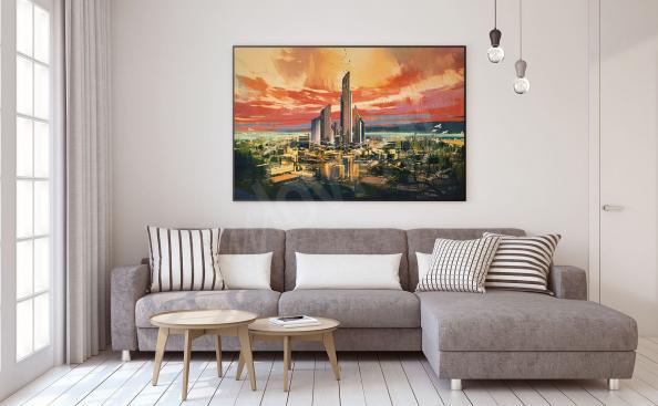 Póster ciudad fantasy