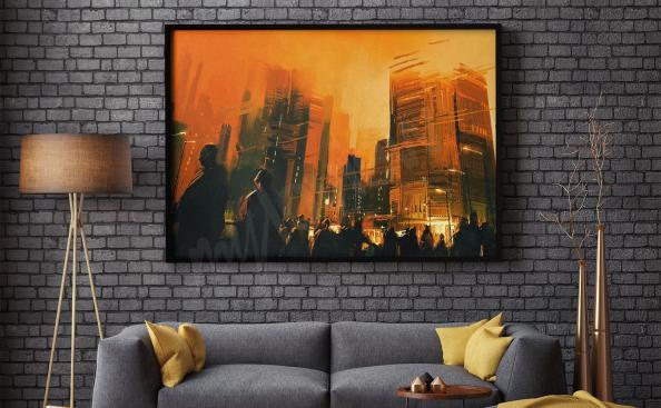 Póster ciudad para sala de estar