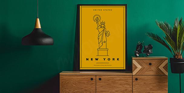 Póster con el símbolo de Nueva York