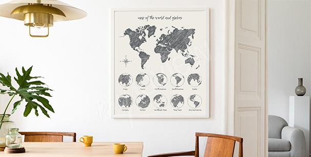 Póster con un mapa