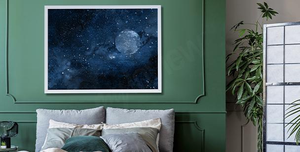 Póster cosmos para dormitorio