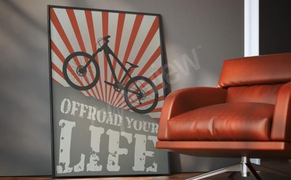 Póster de ciclismo para la habitación de un adolescente
