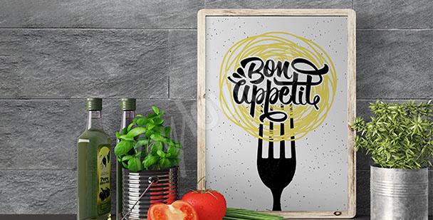 Póster de cocina con eslogan