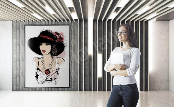 Poster de mujer elegante