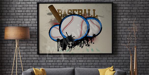 Póster deportivo béisbol