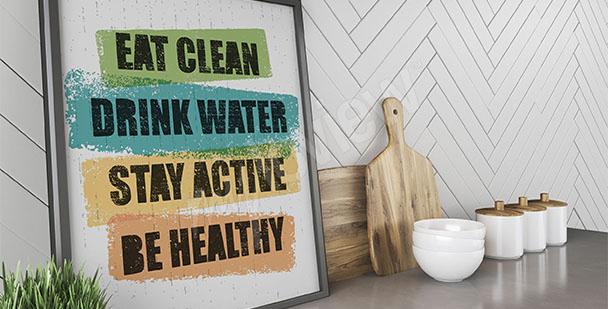 Póster estilo vida saludable