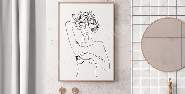 Póster femenino para el baño