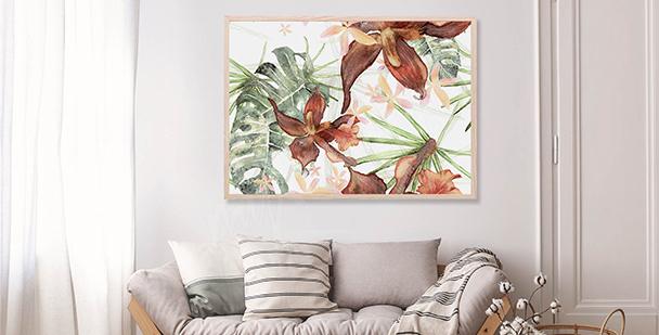 Póster ilustración botánica