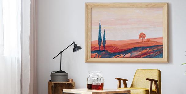 Póster ilustración de Toscana