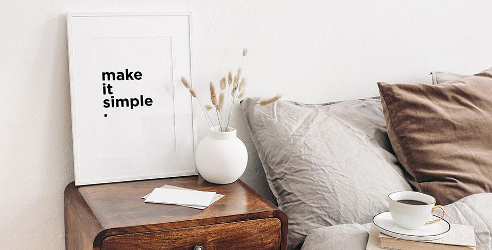 Póster inscripción minimalista