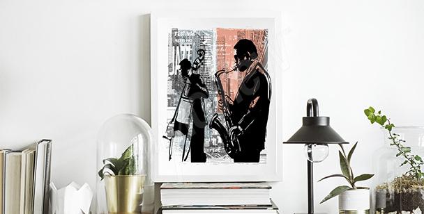 Póster jazz en Nueva York