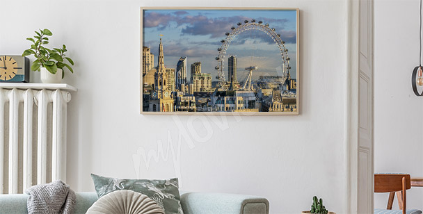 Póster Londres panorámico