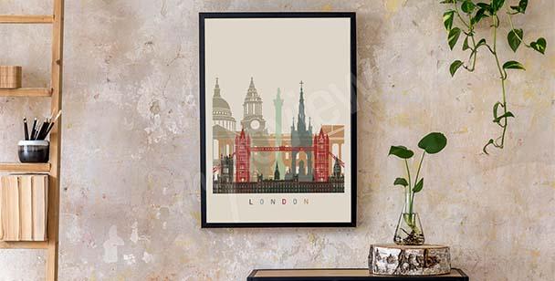 Póster Londres skyline