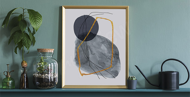Póster minimalismo para vestíbulo