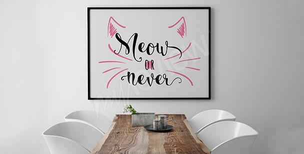 Póster minimalista con un gato