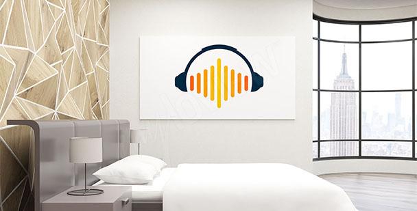 Póster minimalista de música