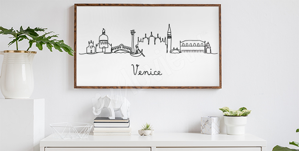 Póster minimalista Venecia