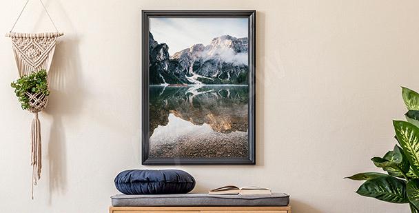 Póster montañas en Italia