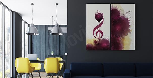 Póster música y vino