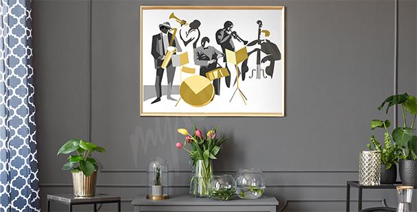 Póster músicos de jazz