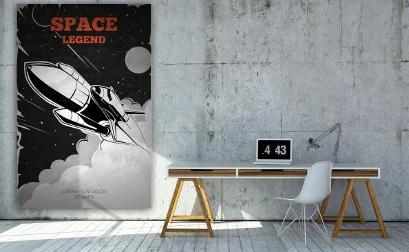 Póster nave espacial vintage