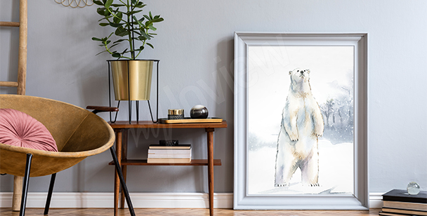 Póster oso polar