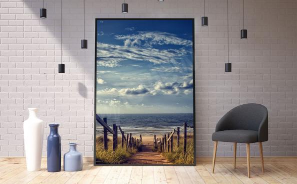 Poster paisaje marino para la sala de estar