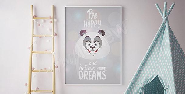 Póster panda para niños