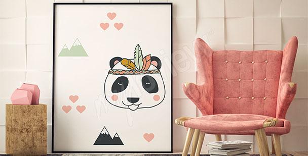 Póster panda para un bebé