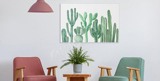 Póster para el vestíbulo cactus